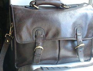 Hiedsign-Leather-briefcase-en-marron-castano-Heavy-Duty-Unisex-Funda-articulo-De-Calidad