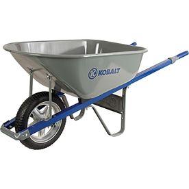 Kobalt 6-cu ft Steel Wheelbarrow Flat-Free Tire(S)