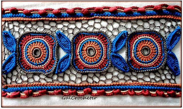 Inspiration ~ crochet lace work, Irish (Irlandes) crochet motif, insert, edging, trim