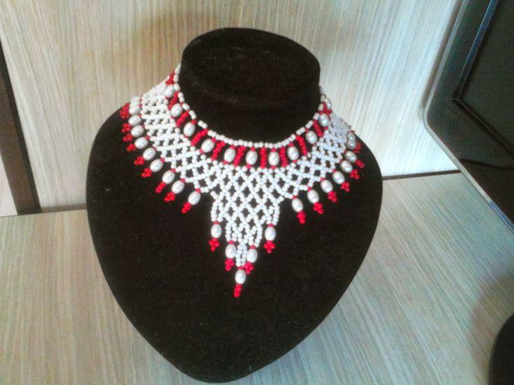 Bijuterii handmade  Ama: Colier unicat hndmade cu perle si margele myuki pr...