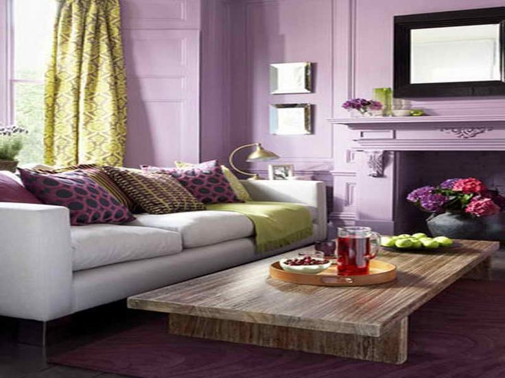 Color Inspiration Purple Living Room