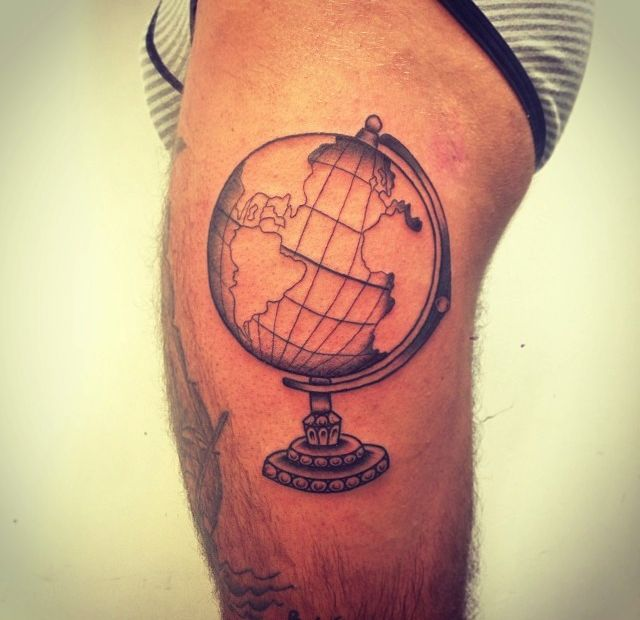 142 Best Images About Globe & World Tattoos On Pinterest
