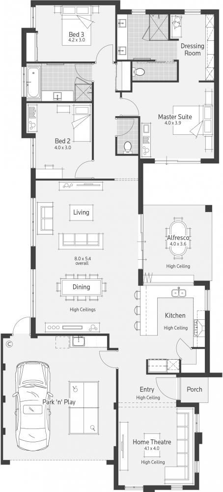 Botanica Display Home - Lifestyle Floor Plan. I like almost everything about this except for the home theatre.