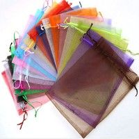 Wish | Luxury Wedding Favor Jewellery 50pcs Organza Gift Bags Candy Bags Packing Pouches