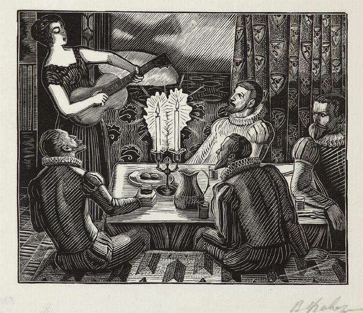 В.А. Фаворский. Ужин у Лауры. 1959–1961