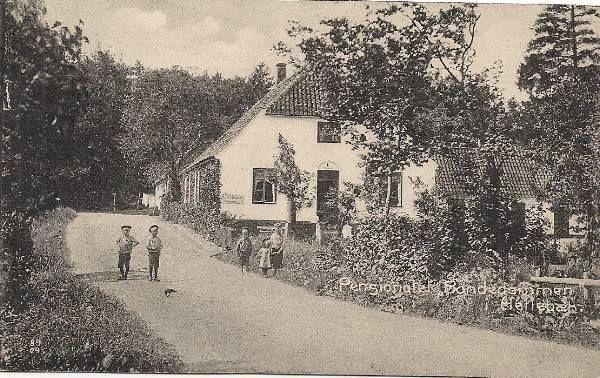 Hellebæk - pensionat Bondedammen . 1910