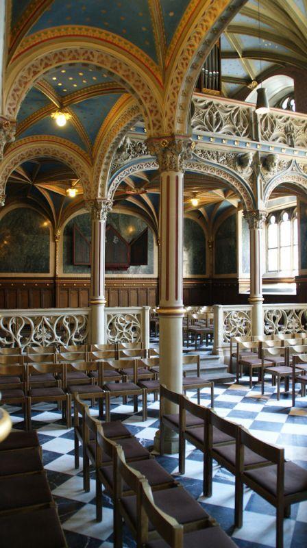 Schlosskirche Kirchenschiff aus die Galerie. (Castle church nave from the gallery.)