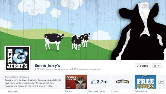 IC. Social Media – Ben and Jerry's believes in creating a dessert experience designed to be shared and talked about with others.  They create buzz through their social media channels and at their core, try to market a social activity, not just a product…