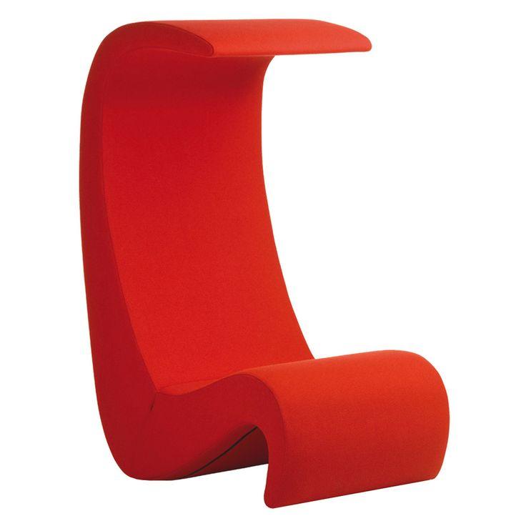 Vitra - Amoebe Highback Sessel, rot Rot T:88 H:127 B:62 Jetzt bestellen unter: http://www.woonio.de/produkt/vitra-amoebe-highback-sessel-rot-rot-t88-h127-b62/