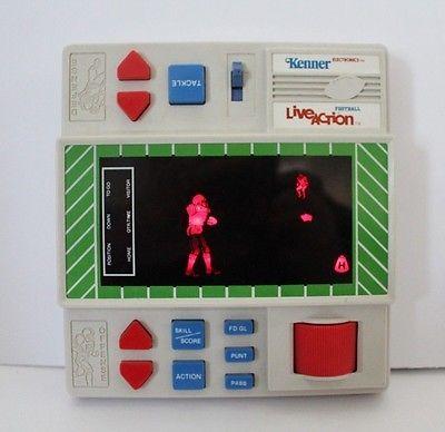 Working Vintage 1980 Kenner Live Action Football Handheld Sports Arcade Video Ga  | eBay