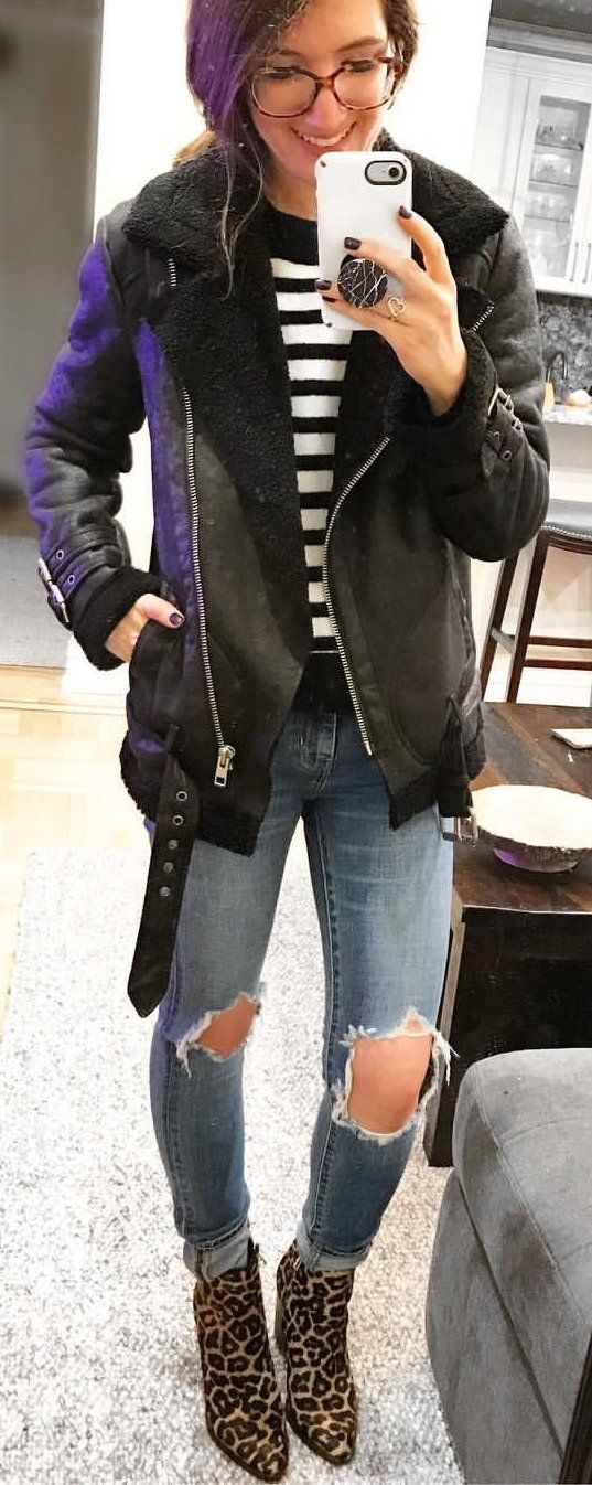 #winter #outfits women's black and purple full-zip hoodie. Click To Shop This Look.