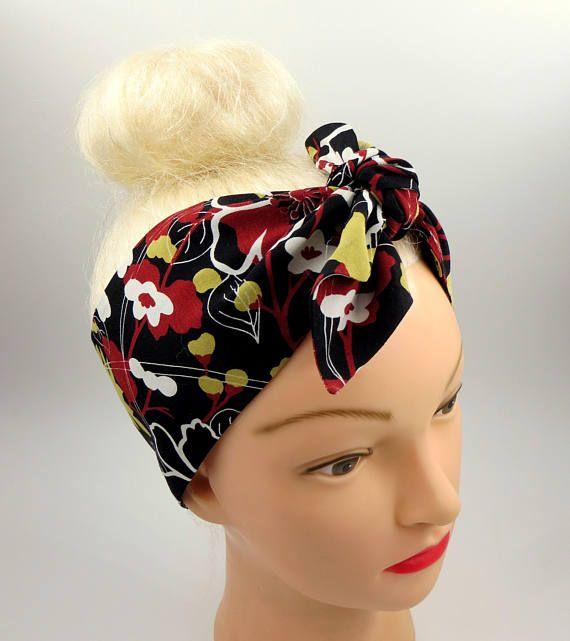 Fascia per capelli rétro anni 50 fascia pin up bandana fascia