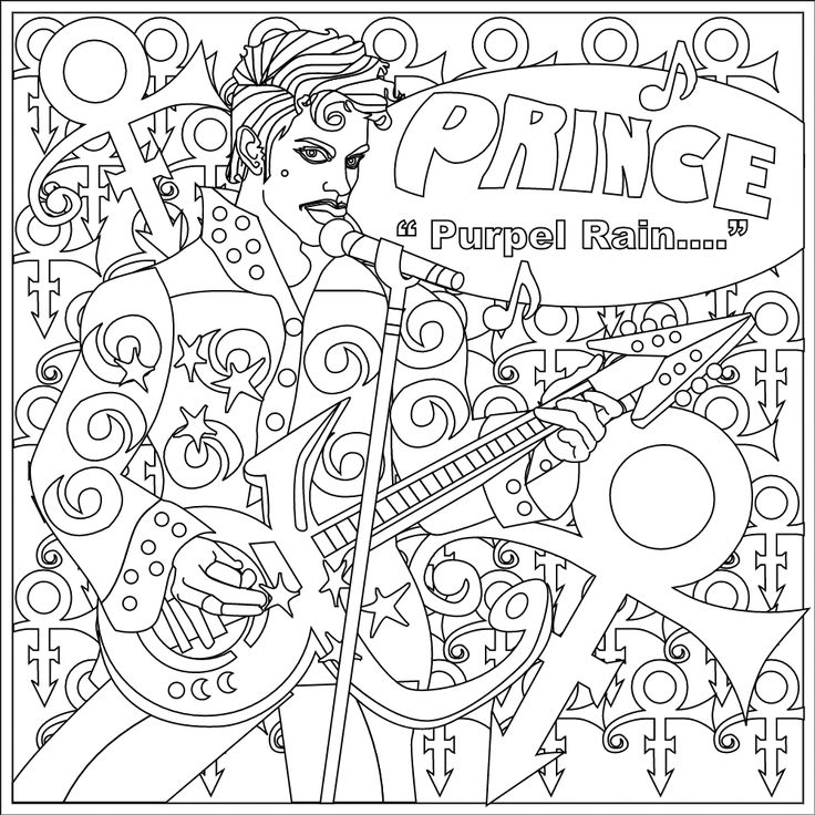 Color Music Instruments Coloring Prince Tools