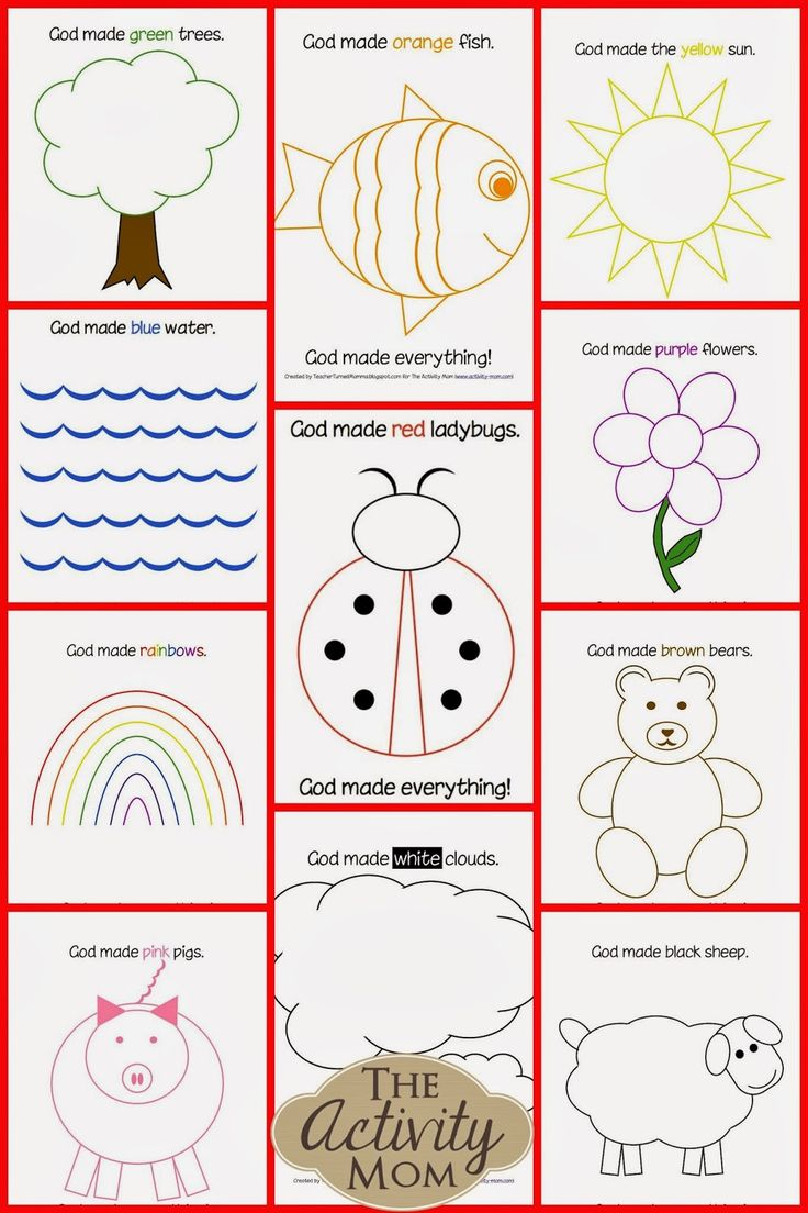 God Made Everything Colors Book