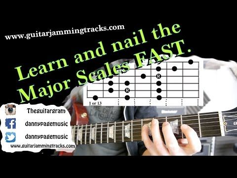 Fastest way to learn the Major scale shapes 1 to 7 - YouTube