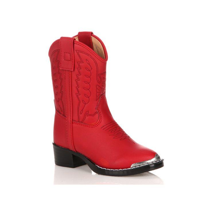 Lil Durango Eagle Baby Cowboy Boots, Kids Unisex, Size: 10.5T, Red