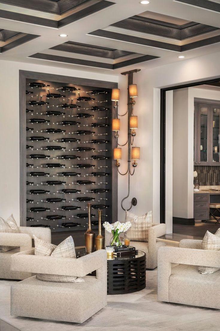 Beautiful modern living room decor with restoration