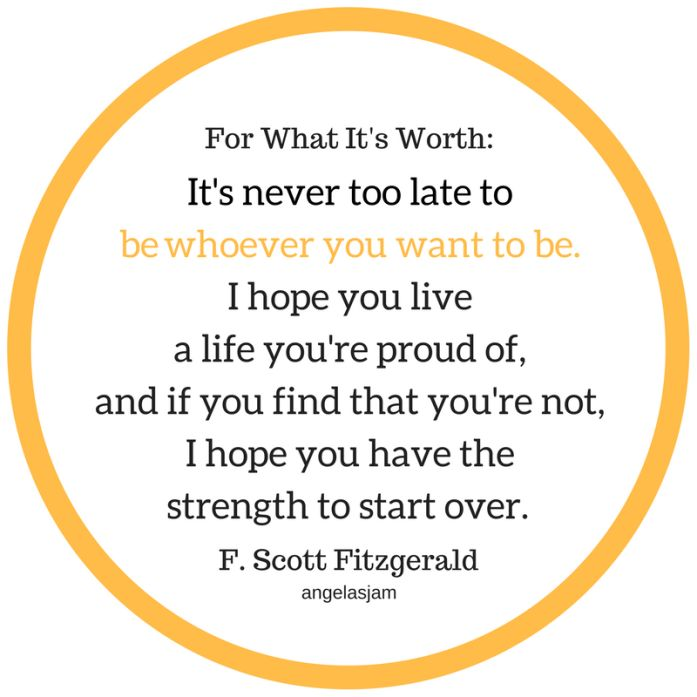 10 Inspirational Quotes | To Get You Through The Day | Angelas Jam | F. Scott Fitzgerald| Be Whoever You Want To Be