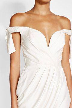 Drapiertes Kleid aus Seide   Zimmermann