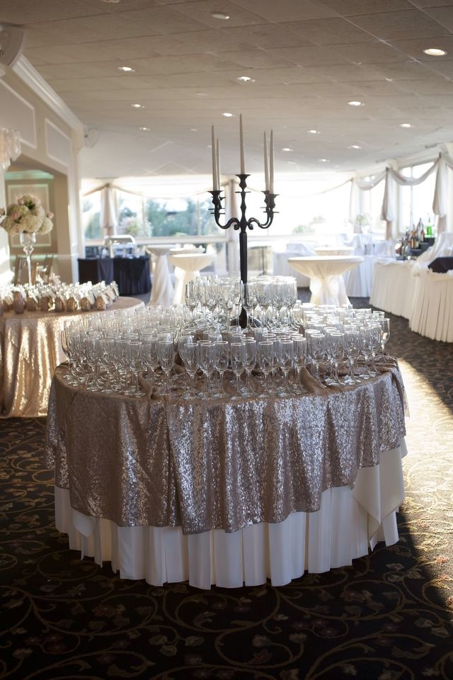 round champagne sequin tablecloth size 120 round rent of buy low prices