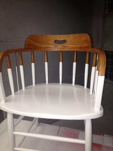 Repuropsed chair!  White lacquer treatment. PostModernHome.com in Darien , CT on the Post Road.  Exit13 I95