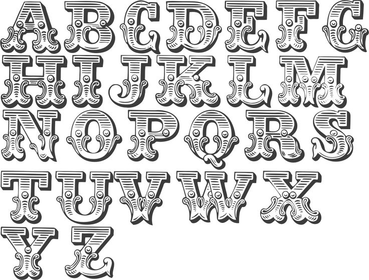 fancy alphabet for lettering