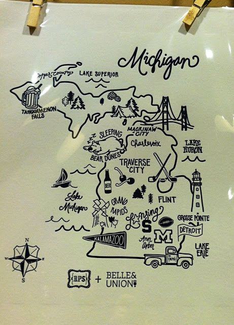 Great map for a gallery wall. Rock, Paper Scissors.