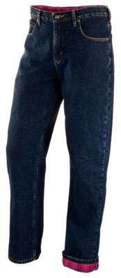 RedHead Flannel-Lined Jeans for Men - Dark Stone - 44x30