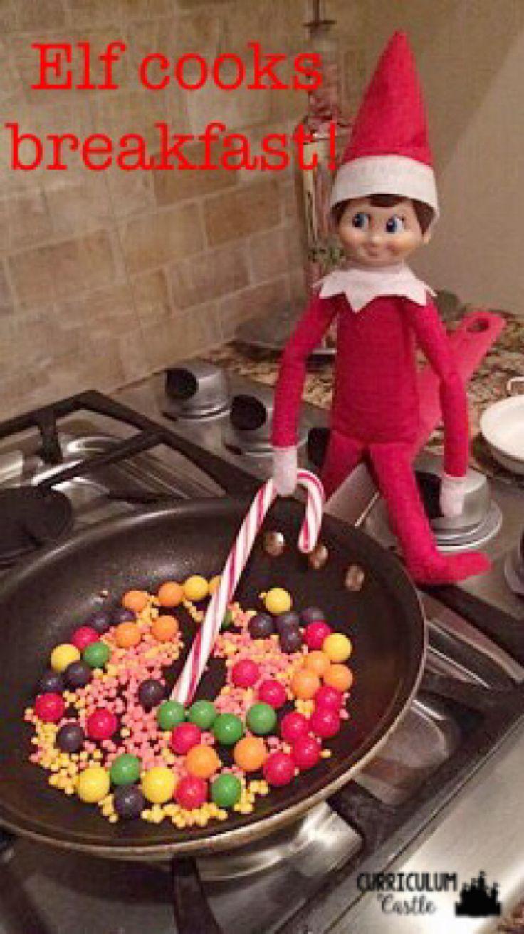 Top 50 elf on the shelf ideas i heart nap time - Elf On The Shelf Ideas Elfie Cooks Breakfast