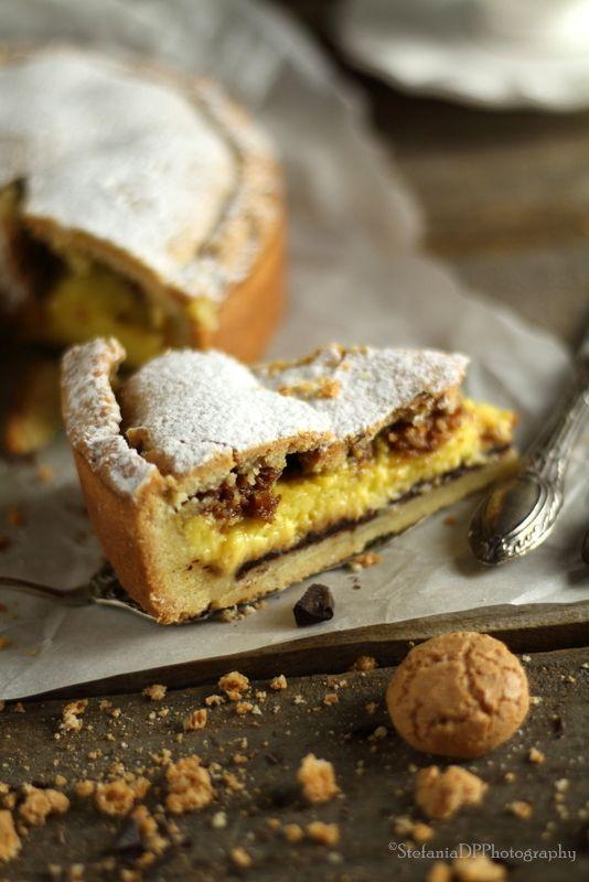 Crostata con crema e amaretti | Formine e Mattarello