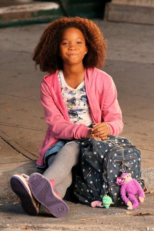 Wallis on the set of 'Annie'