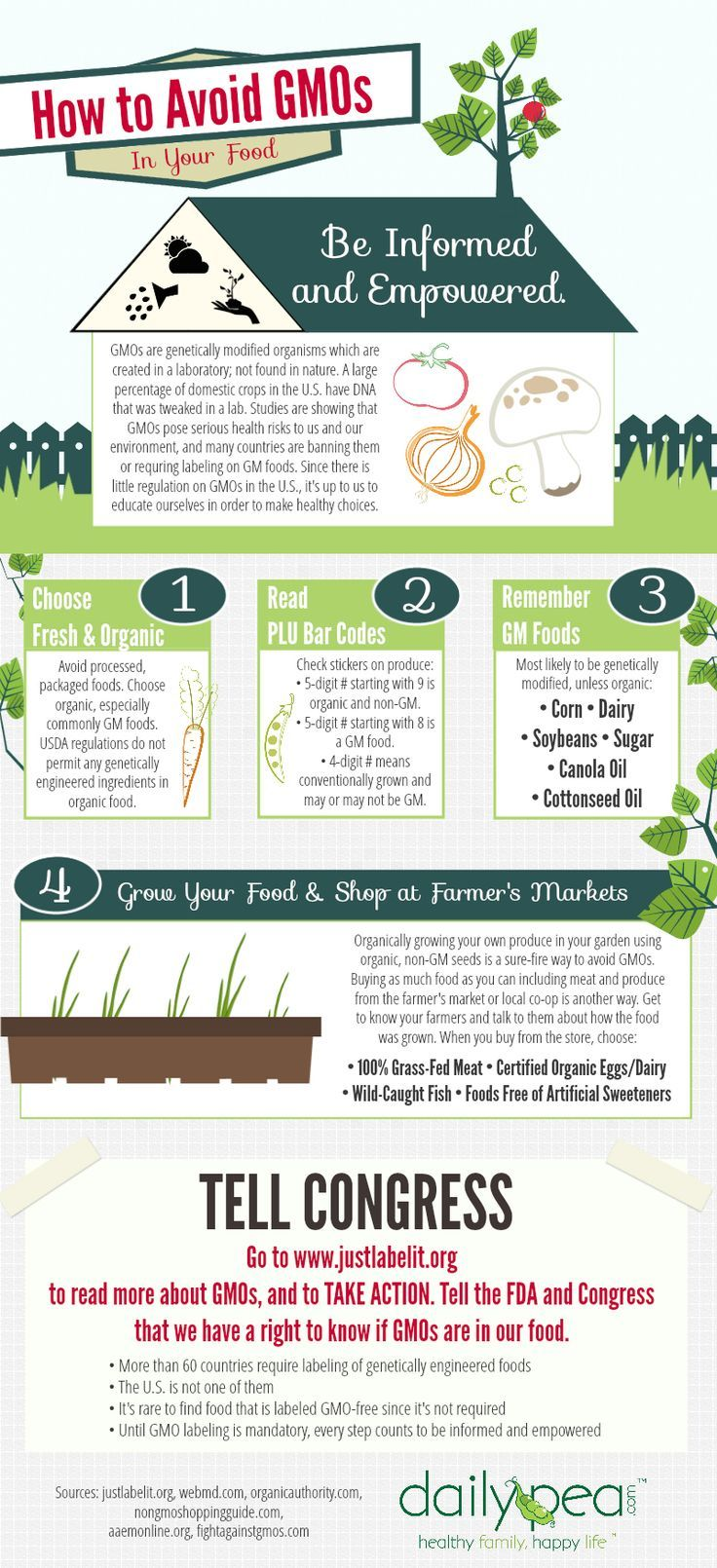 Want to Completely Avoid GMOs in Your Food? Check Out These 3 Tips Now! http://homeandgardenamerica.com/how-to-avoid-gmos