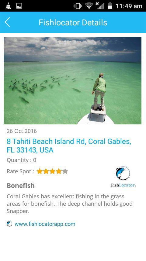 Coral Gables Bonefish USA Fishlocator app