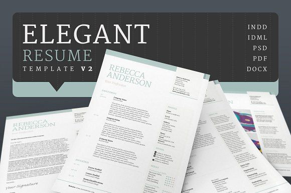 Elegant Resume/CV V2 Elegant CV Design + Cover Letter Design | Modern Resume | Professional Resume Template Editable in Word | Resume Download | CV Template