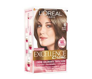 "Excellence Crème barva na vlasy od L'Oréal Paris ""tmavá blond"" (as dark blonde you will be brunette!), or more cool 6.01, 6.1"