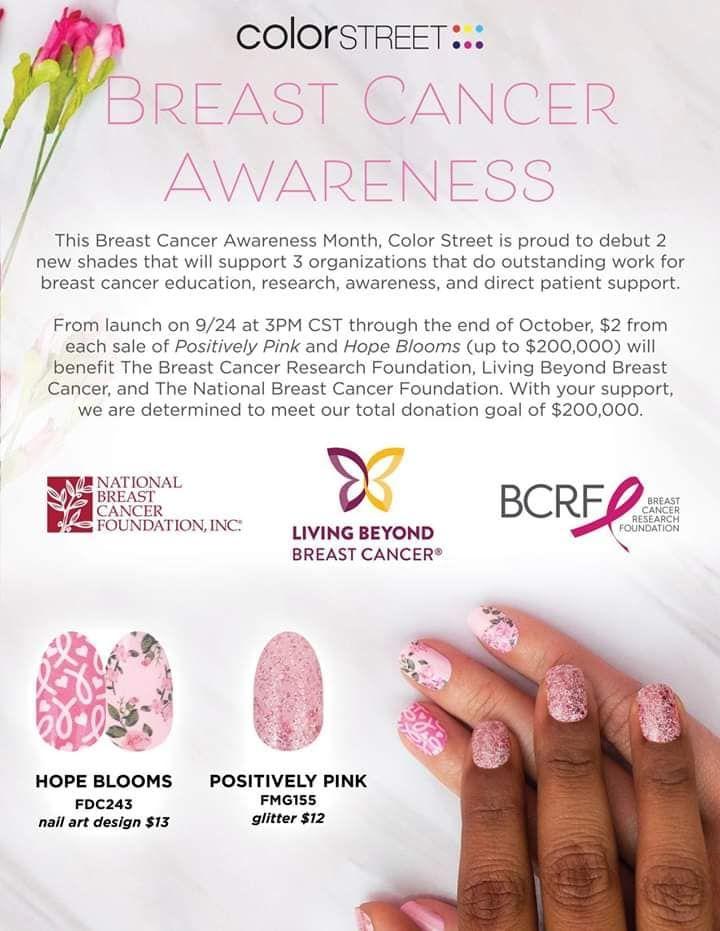 Oktober ist Brustkrebs-Bewusstseins-Monat!   – Color Street Nail Stuff