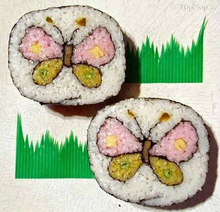 Butterfly sushi