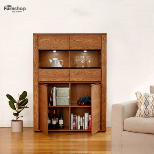 Olten #Dark #Oak #Display #Cabinet #Modern low glazed display cabinet with a hint of #Classical #Design that will complement a wide range of #Interiors. #FurnitureTrends #HomeFurniture #HomeDecor #Storage Dimensions:W 117cm x D 38cm x H 158cm Material:Oak Finish:Oiled Oak Assembly:#Assembled