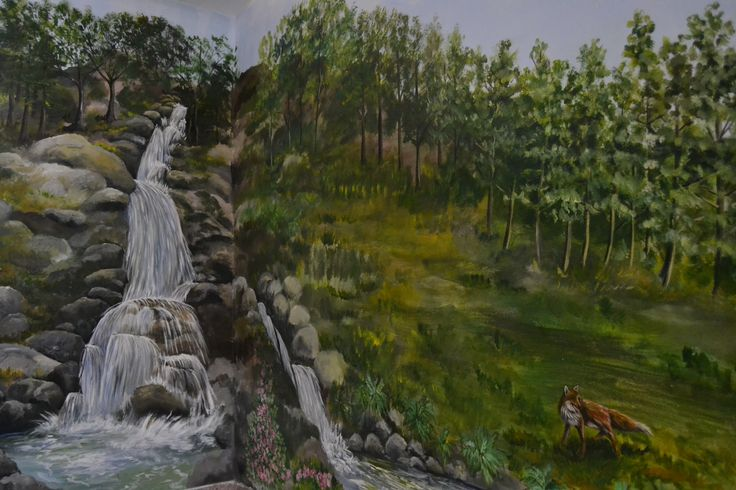 murales scala cascata autore Natalia Albanese