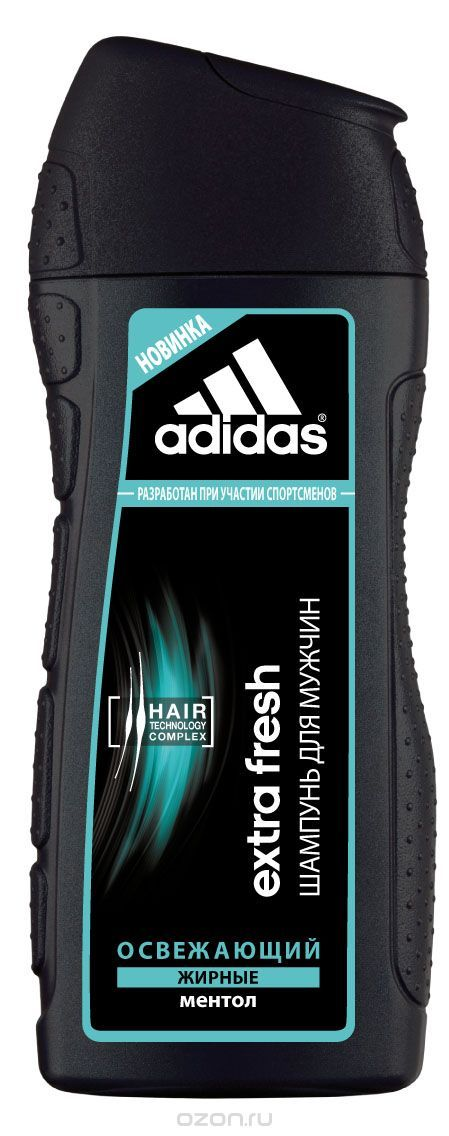 Adidas Шампунь Extra Fresh, благодаря чему освежает кожу головы и обеспечивает мгновенный охлаждающий эффект.  Это мягкий очиститель и пенящееся средство, вокруг глаз, рта и лба, что ведет к появлению морщин.  Молочные зубки требуют особого ухода.