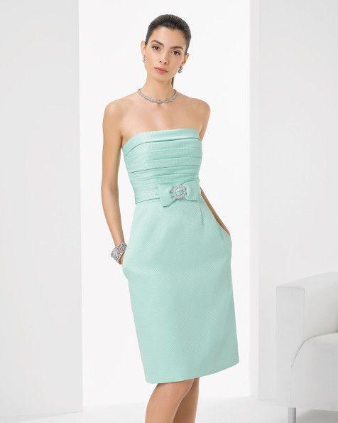 Vestido de pique y pedreria corto. Color cobalto,verde,marino,rosa y negro.