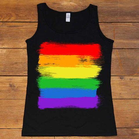 LGBTQ+ Flag -- Women's T-Shirt/Tanktop – Feminist Apparel