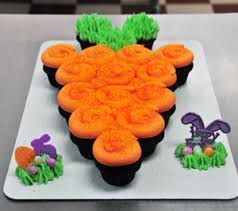 Image result for 12 count cupcake cake designs carrot
