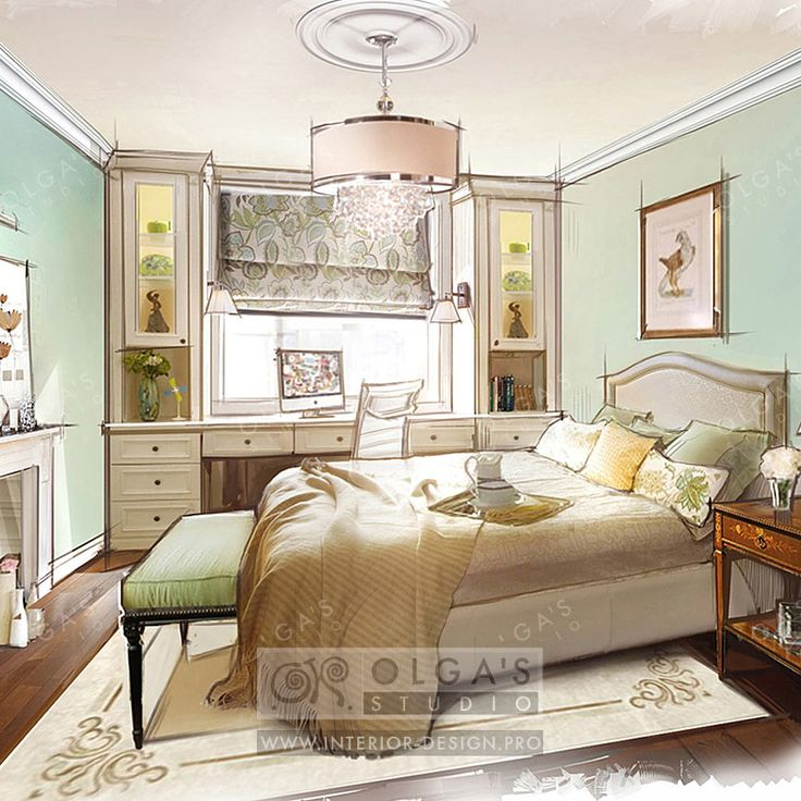 Study Area in Bedroom Design http://interior-design.pro/en/blog/functional-solutions-for-small-bedroom.php