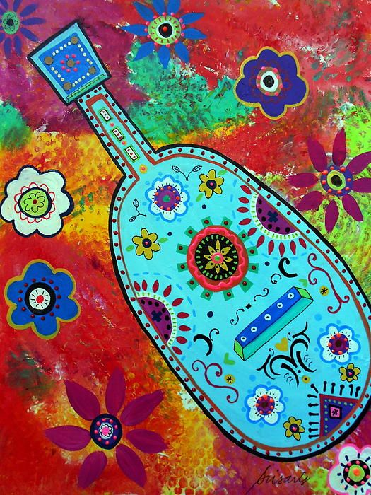 mexican folk art guitars. might be a great art project idea.