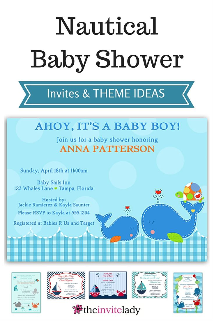 Ahoy! Customized Invites for Nautical Themed Baby Showers - NAVY SAILBOAT Baby shower invitations the expecting mom will LOVE. Blue And Yellow, Navy, Gold, Red, Gray #babyshower