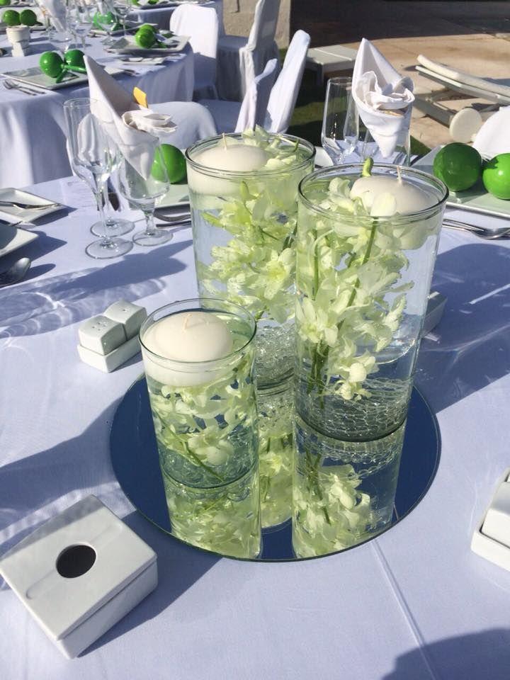 1000 images about centerpieces centros de mesa on - Centros con velas ...