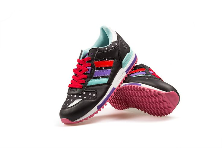 Great Women Adidas ZX 750 Running shoes Black Red, online store