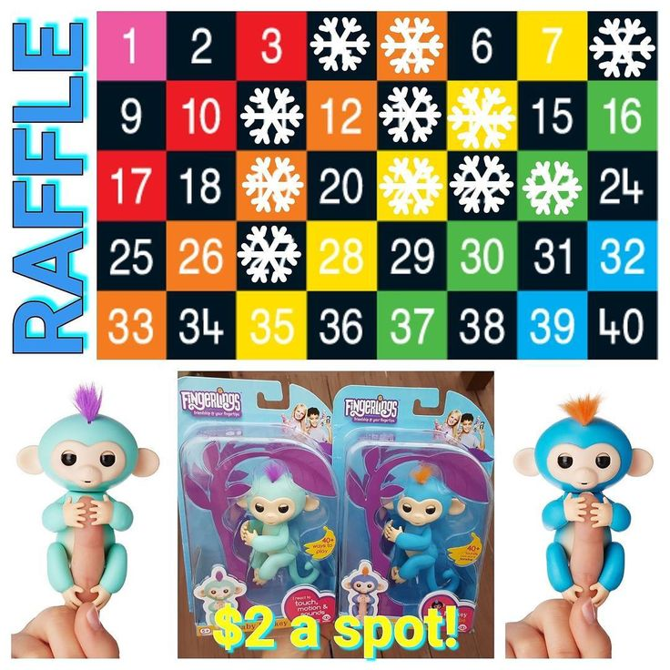 HOT TOY ALERT! TWO WINNERS Each winner will receive ONE Boris (blue) or Zoe (turquoise) Fingerling Monkey. First winner gets to choose preferred color. Spots are $2 each. You may purchase as may numbers as you'd like. Please DM me for Paypal information. Odds of winning are 2/40. YOU MAY WIN TWICE if you purchase more than one number.  This is a game of chance. No refunds if you do not win.  I cannot hold numbers for more than 10 minutes without payment so please be PayPal ready when you…
