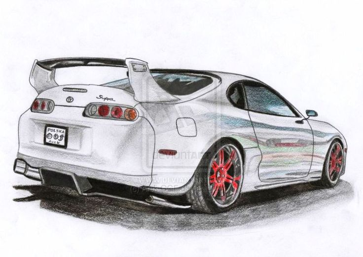 30 best Supra drawings images on Pinterest | Car drawings, Cars and ...